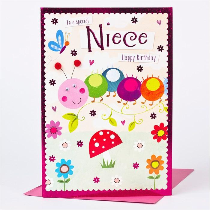 birthday card niece friendly caterpillar only 1 49