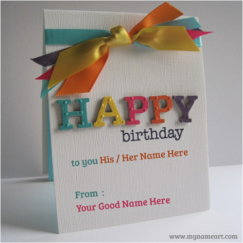 Birthday Card Images With Name Editor Greeting Photo Tale