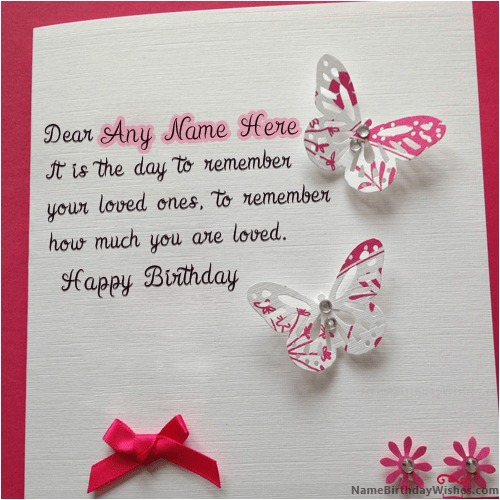 Happy Birthday Cards Name Edit