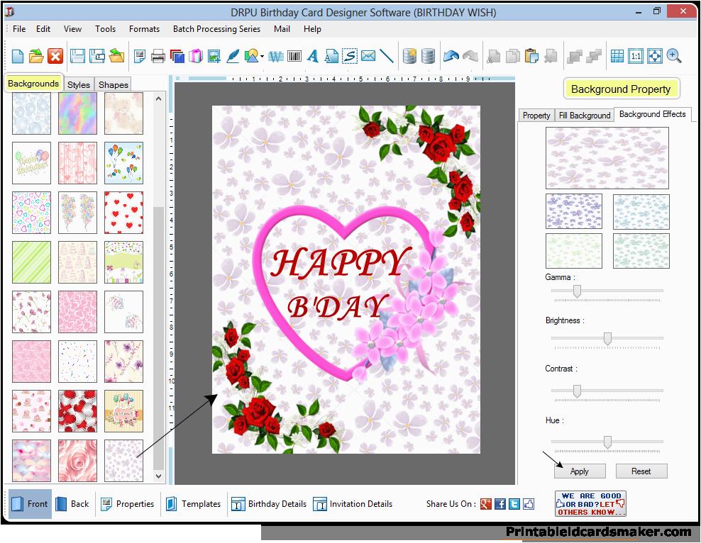 birthday cards maker software design printable birth day