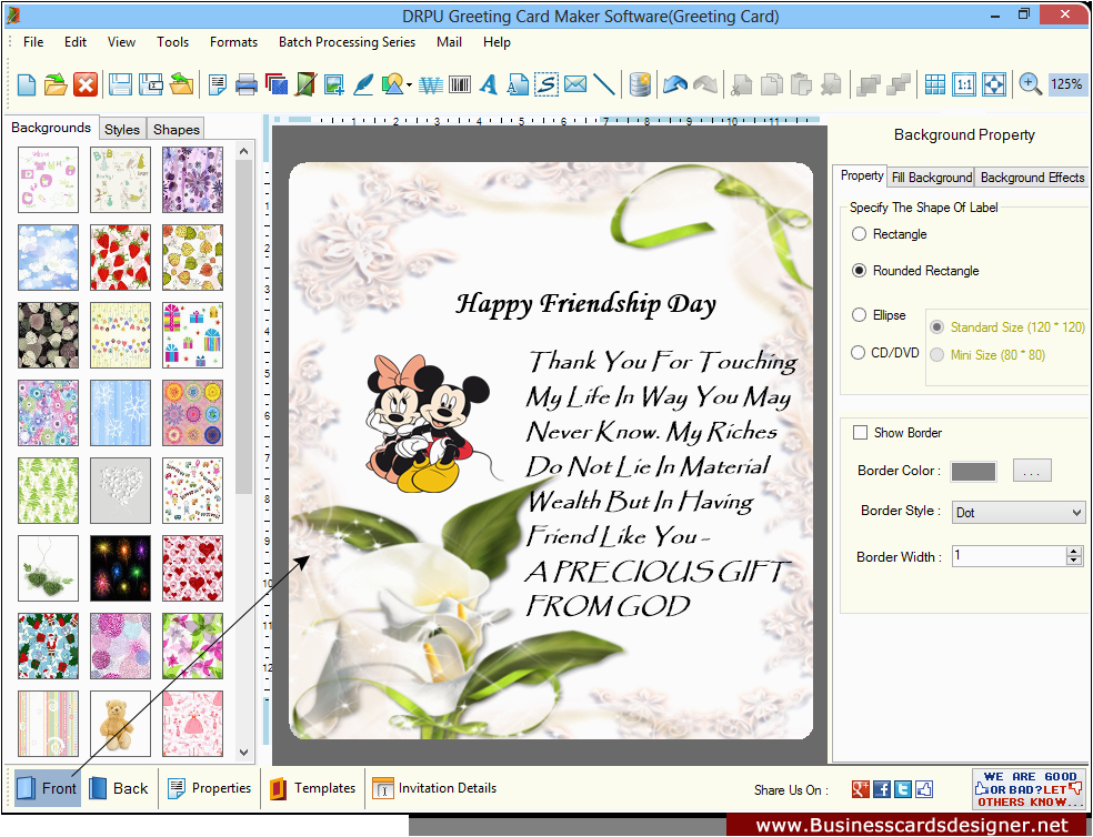 Birthday Card Making software Greeting Cards Designer software Card Maker Create