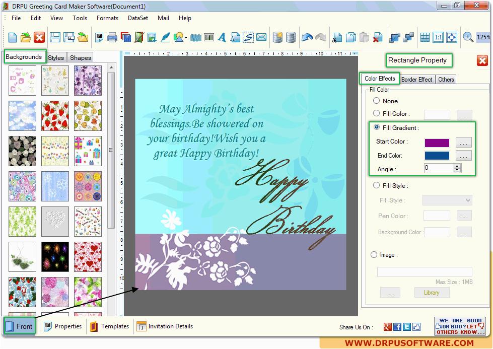 greeting cards making software