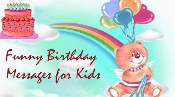 funny birthday messages for kids