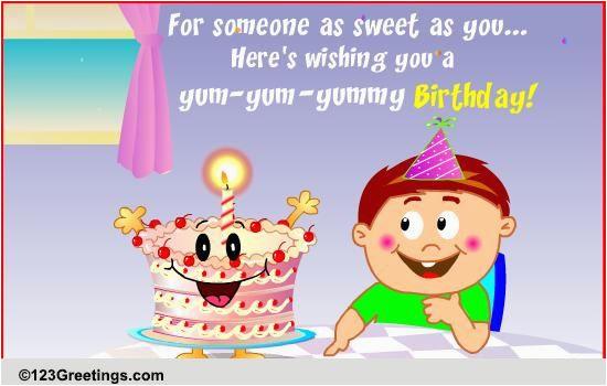 yum yummy birthday free for kids ecards greeting cards