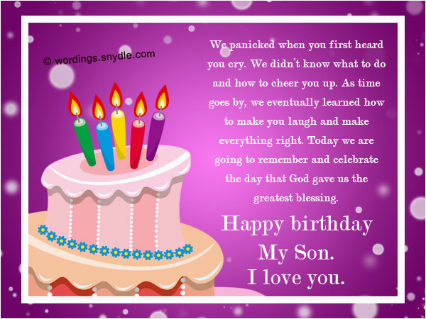 Birthday Card Messages For My Son Wishes Sons Nicewishes Com