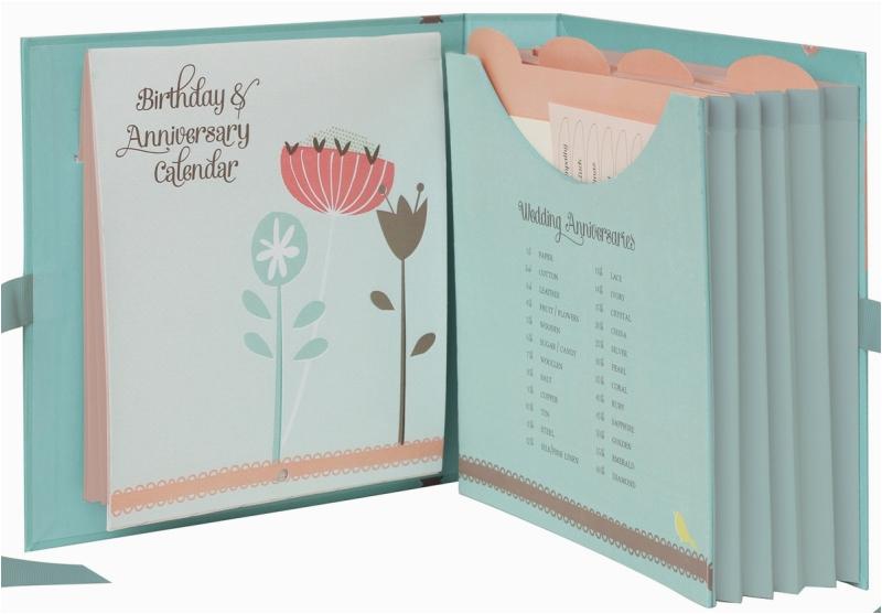Birthday Card organiser Book Mojolondon K Two Birthday Card Book