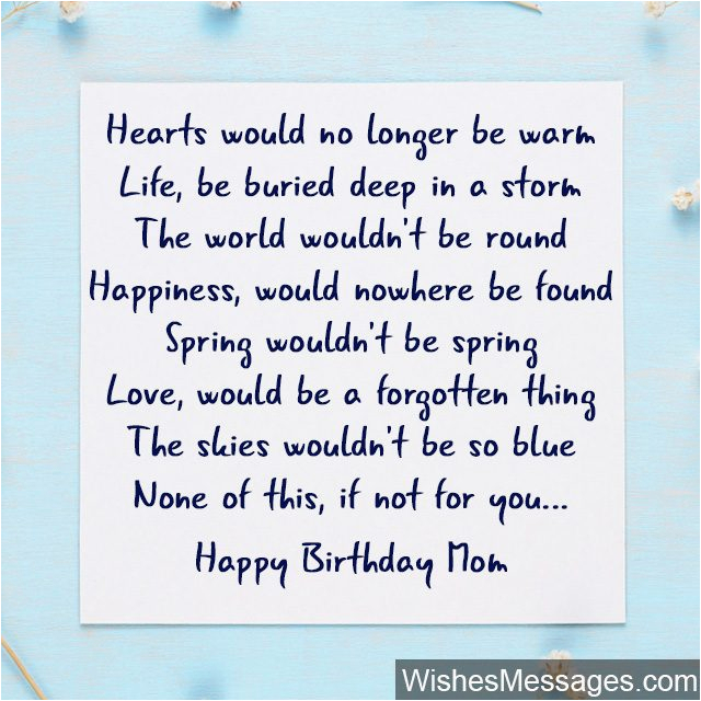 birthday poems for mom