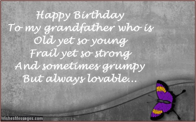 birthday wishes for grandpa birthday messages for