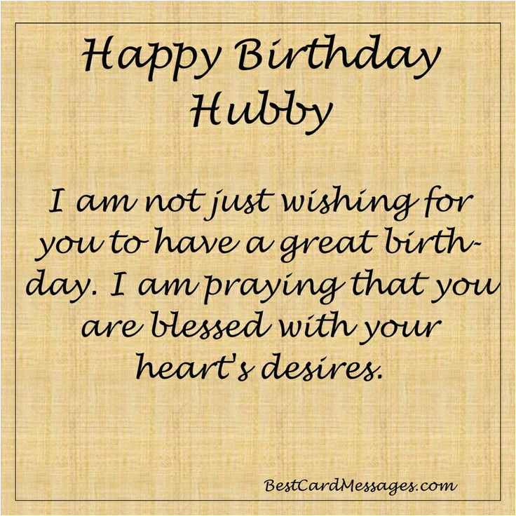 inspirational birthday message for your husband husband