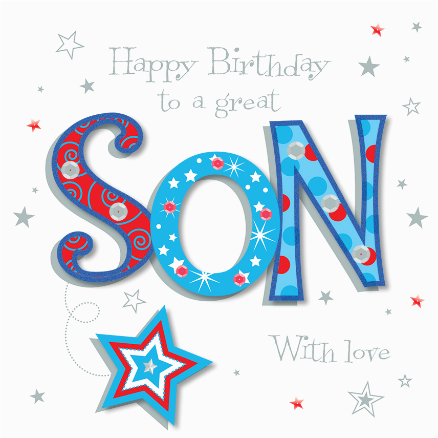 kctpmwe30061 great son happy birthday greeting card by talking pictures cards