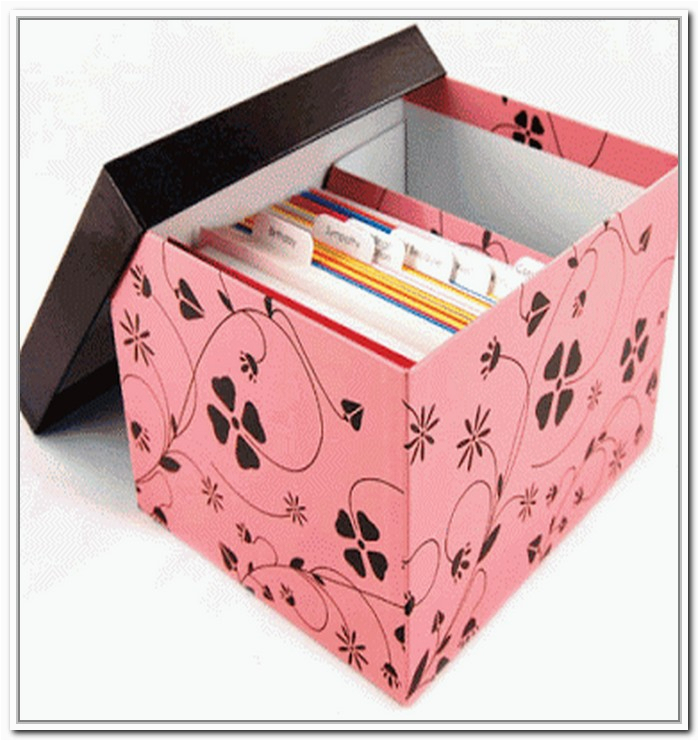 greeting card storage box