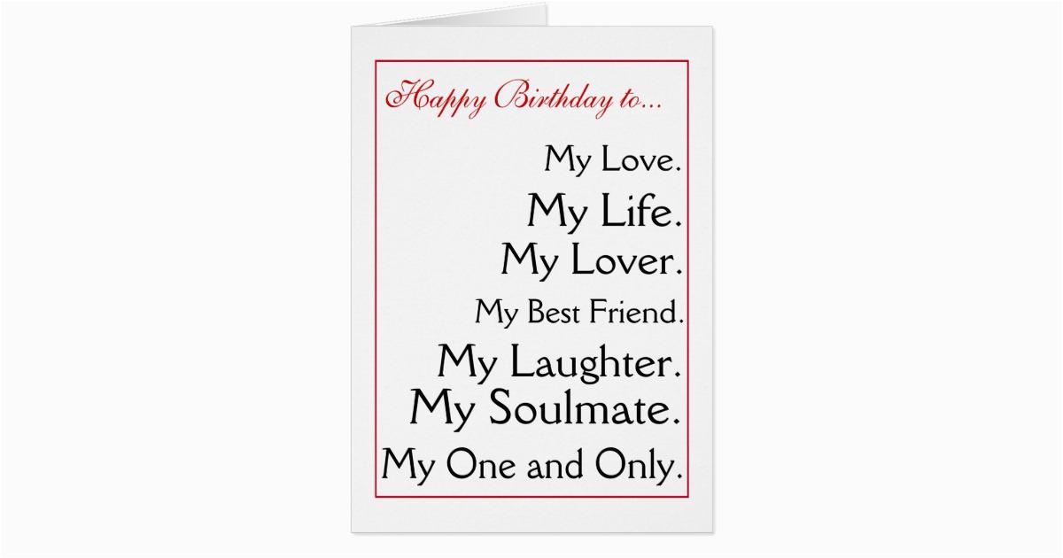 happy birthday girlfriend boyfriend wife husband card