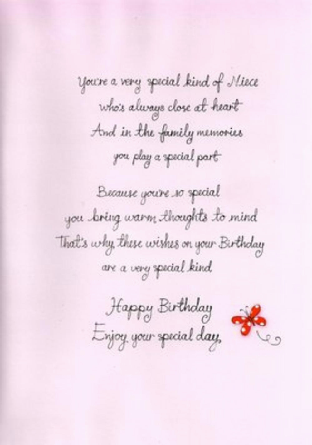 Birthday Card Verses For Niece Poems