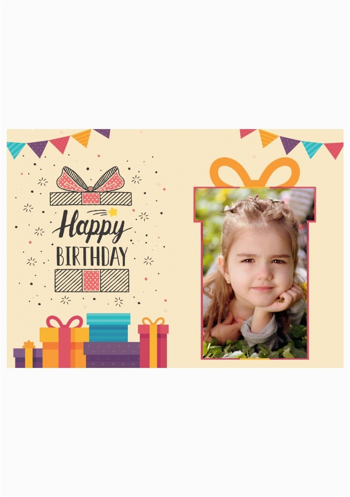 birthday card upload photo