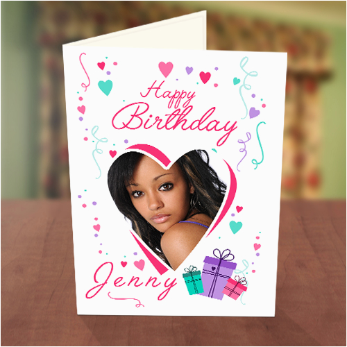 love shape gift boxes birthday card