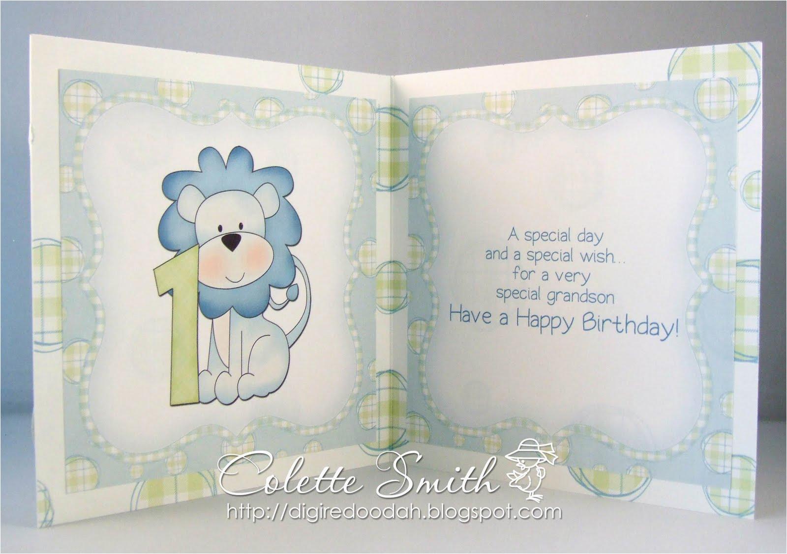 Birthday Card with Picture Insert Digi Re Doo Dah Dexter 39 S Birthday Card