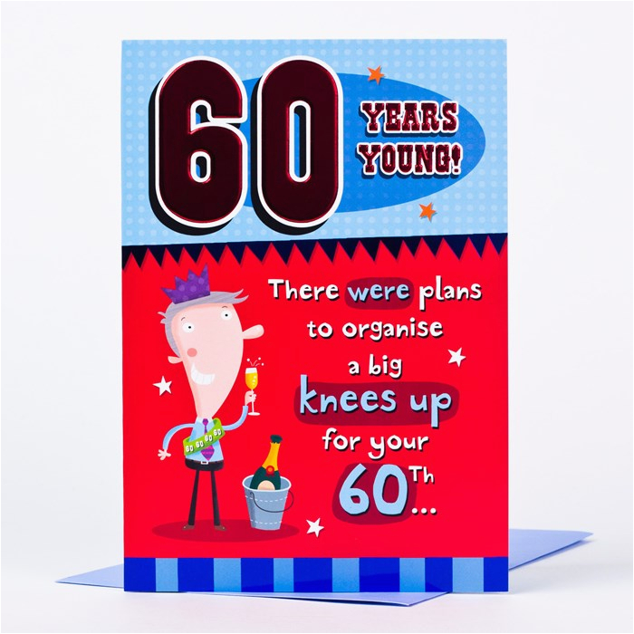Birthday Cards 60 Years Old Funny 60th Card Young Only 89p