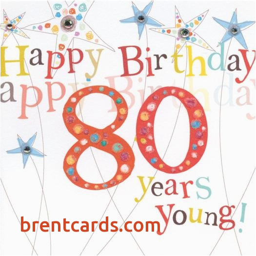 Birthday Cards 80 Year Old Woman Card For Unique Happy