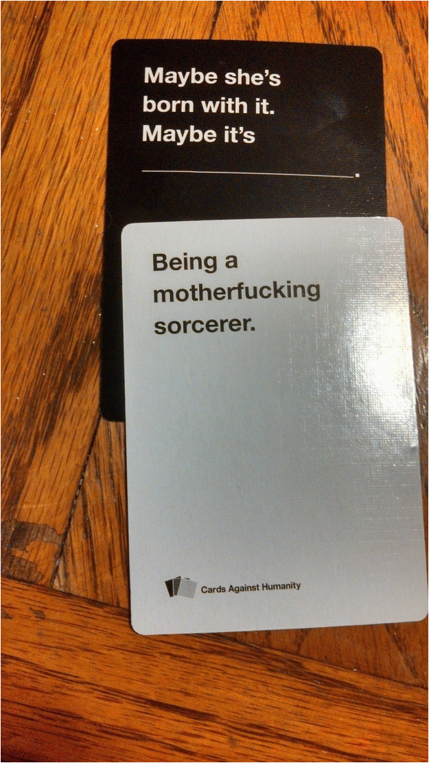 hilarious awkward rounds of cards against humanity