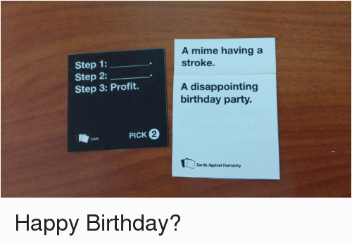 cards against humanity birthday