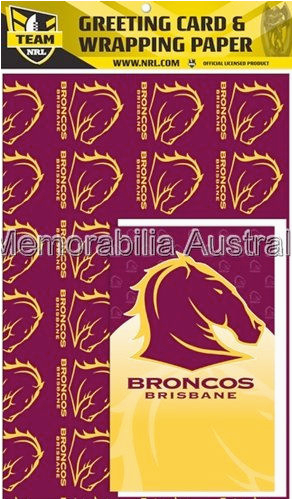 broncos nrl card and wrap pack