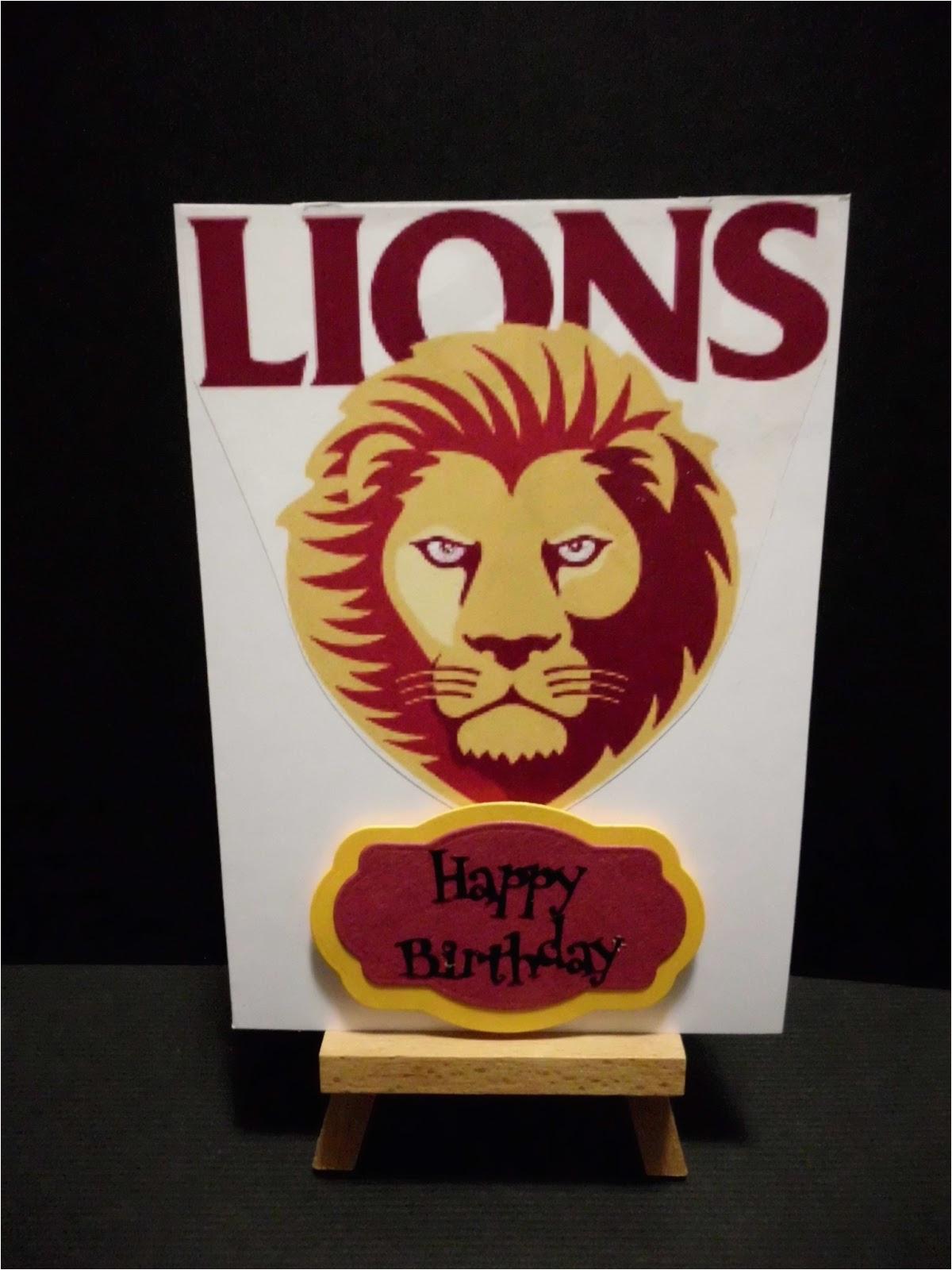 brisbane lions cards