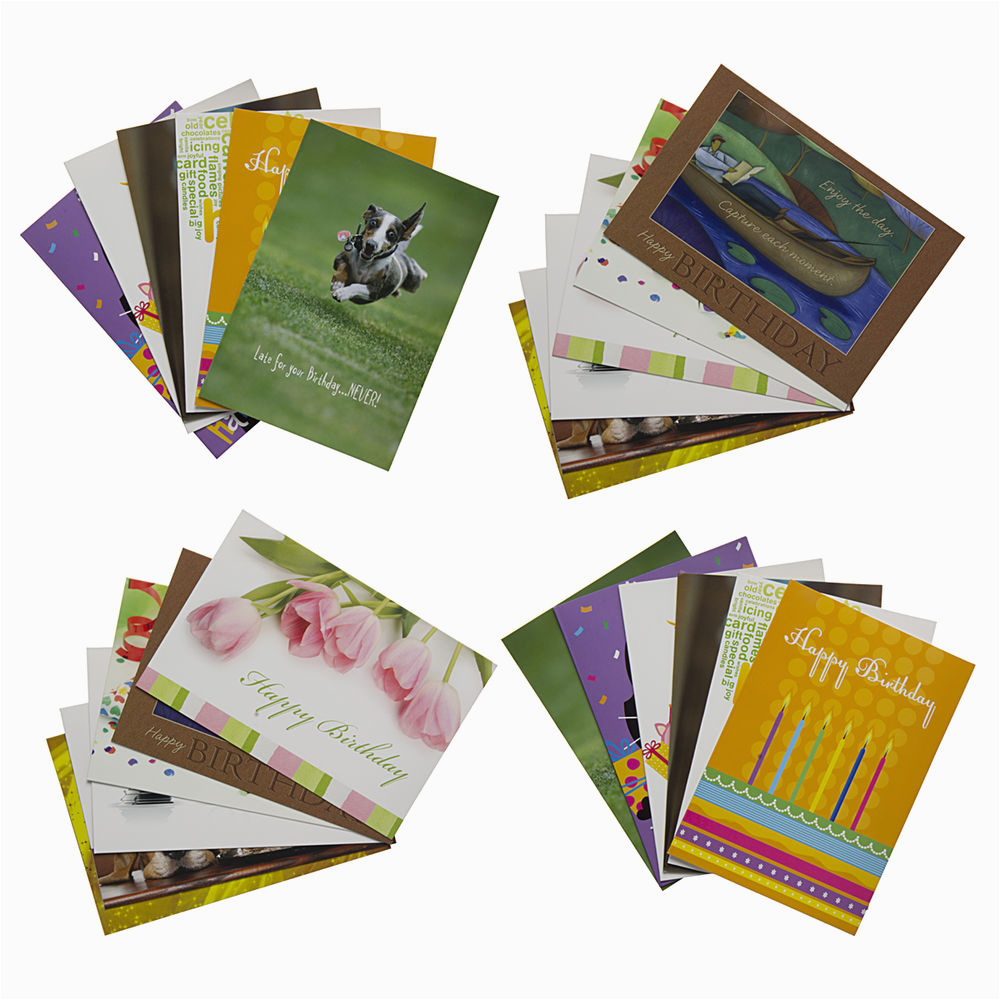 Birthday Cards Bulk Buy 24 Pack Happy Greeting Assortment With