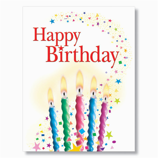 Birthday Cards Bulk Order Candles And Confetti Card