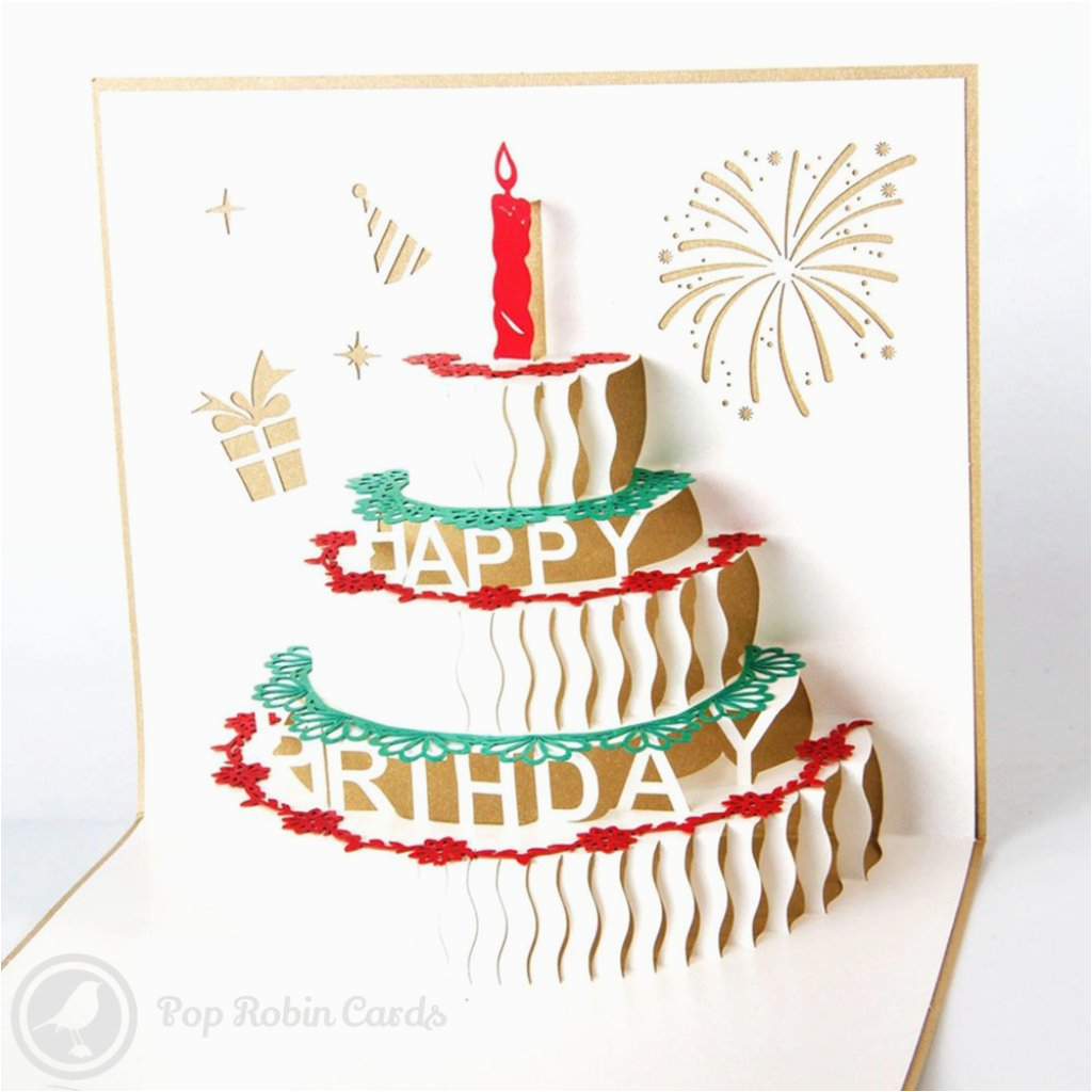 Birthday Cards Cakes Pictures Cake With Candles 3d Pop Up Greeting