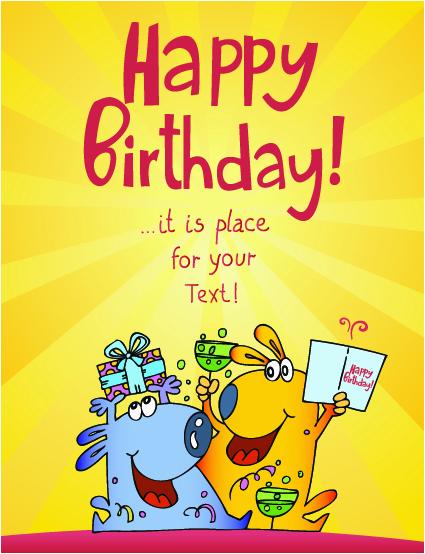 birthday cards cartoon character