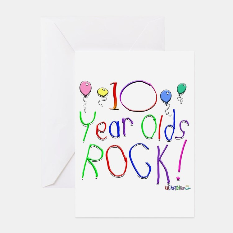 10 year old stationery cards invitations greeting