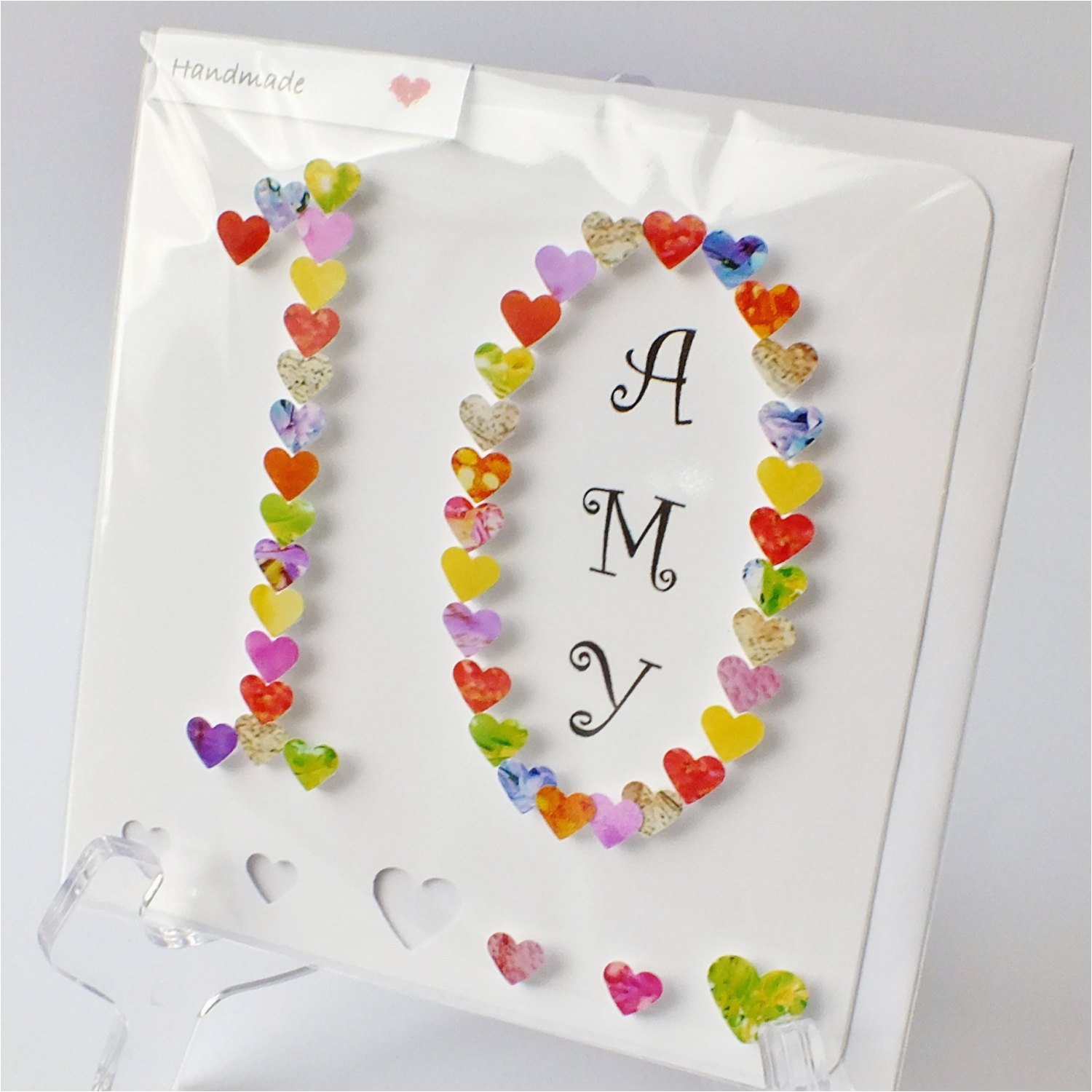 handmade 3d 10th birthday card personalised 10th birthday