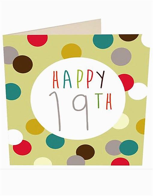 happy 19th birthday cards caroline gardner age 19th
