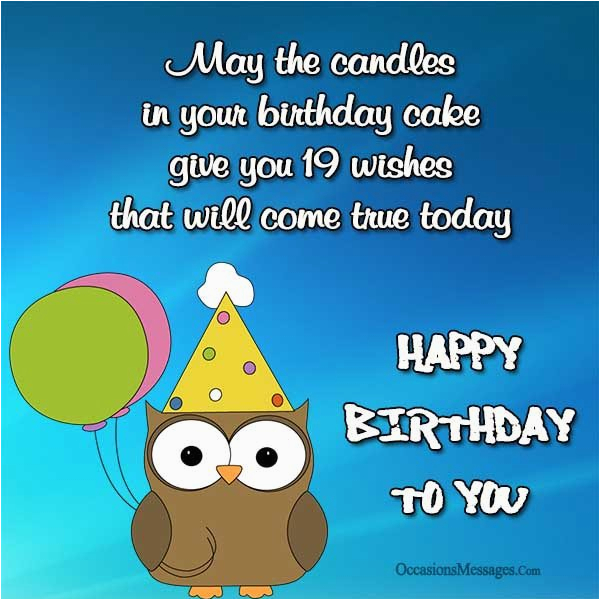 happy 19th birthday wishes occasions messages