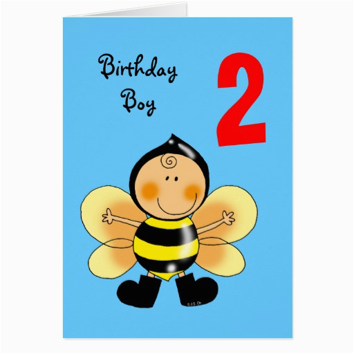 Birthday Cards For 2 Year Old Boy Greeting Card Zazzle