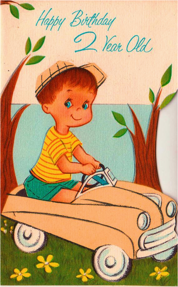 Birthday Cards For 2 Year Old Boy Vintage 1963 Happy Greetings Card