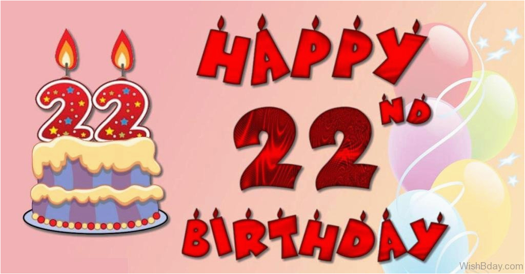 44 22nd birthday wishes