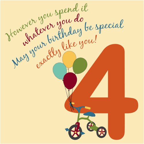 for a special 4 year old