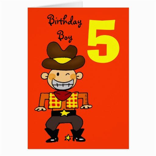 5 year old birthday boy card 137890350973772663