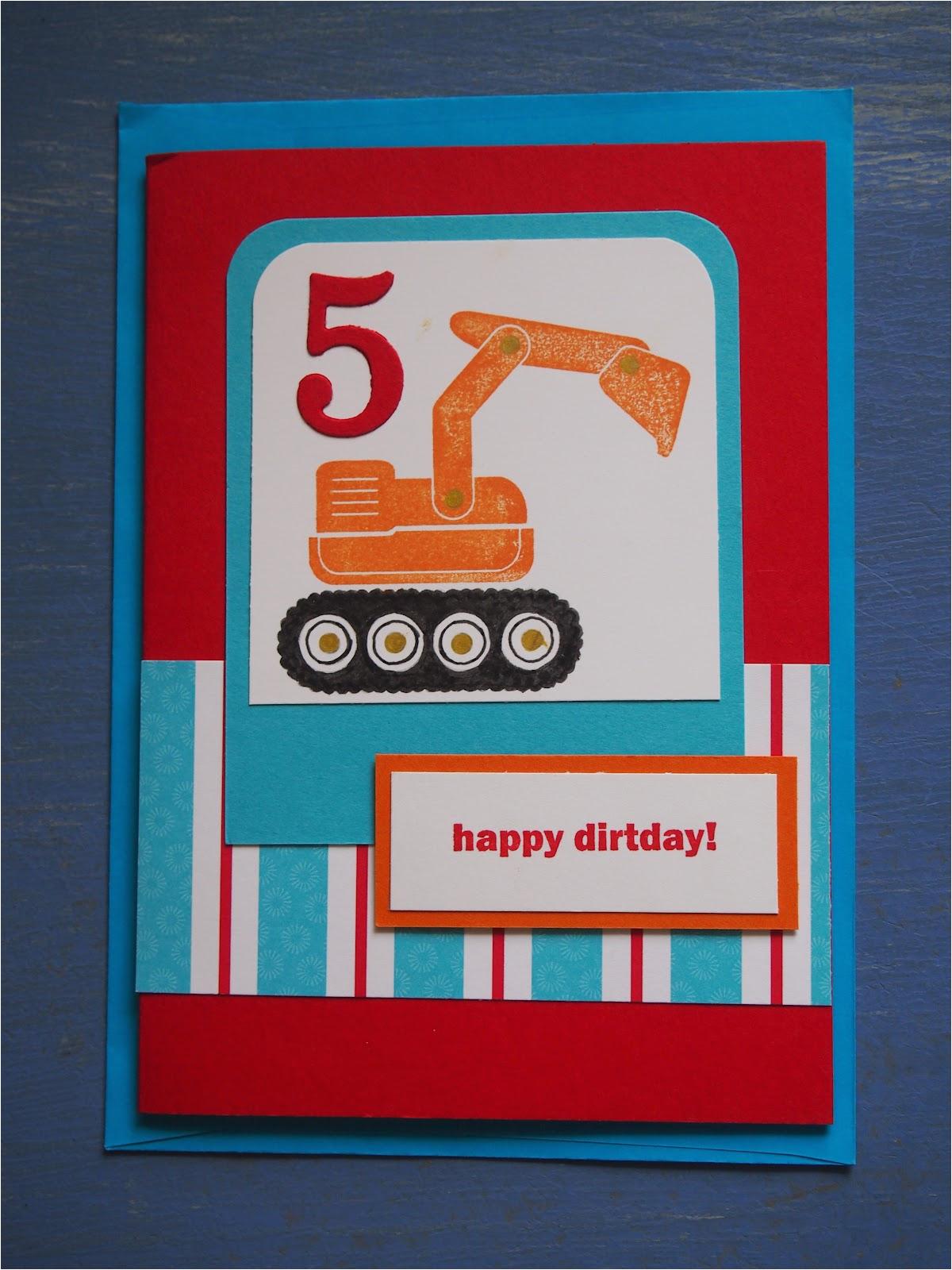 handmade card for 5 year old boy