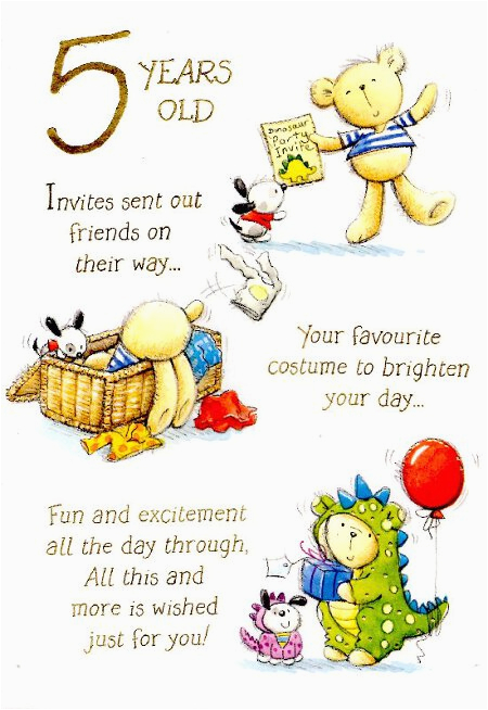 Birthday Cards For 5 Year Olds 5th Quotes Quotesgram