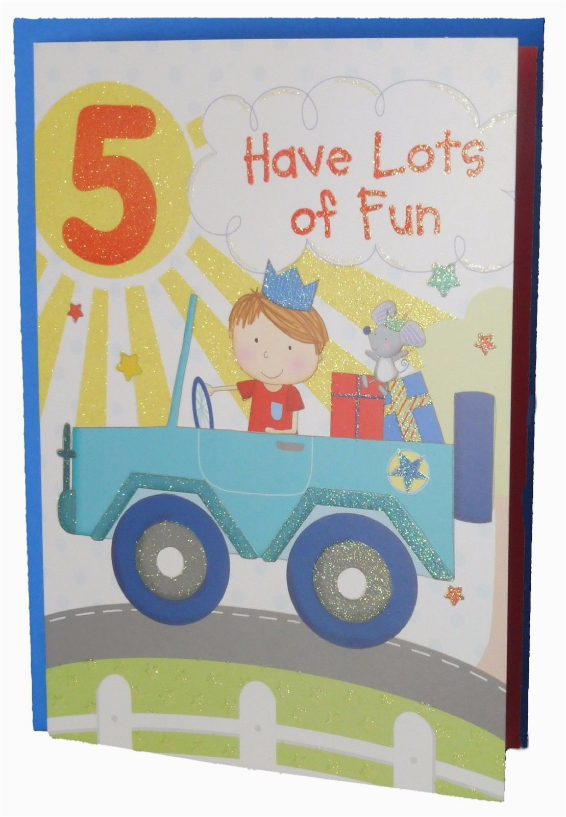 Birthday Cards For 5 Year Olds Car Themed Card Old Boy