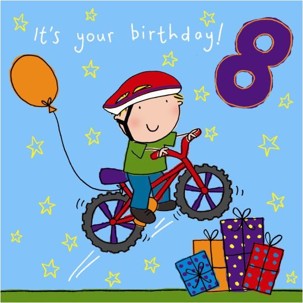 age 8 boys birthday card 194 p