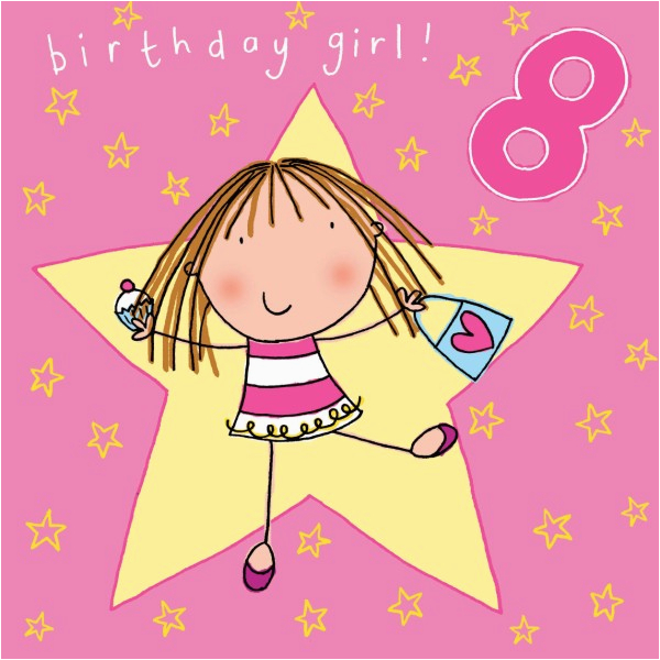 Birthday Cards for 8 Years Old Girl Happy Birthday 8 Year Old Card Happy Birthday Wishes