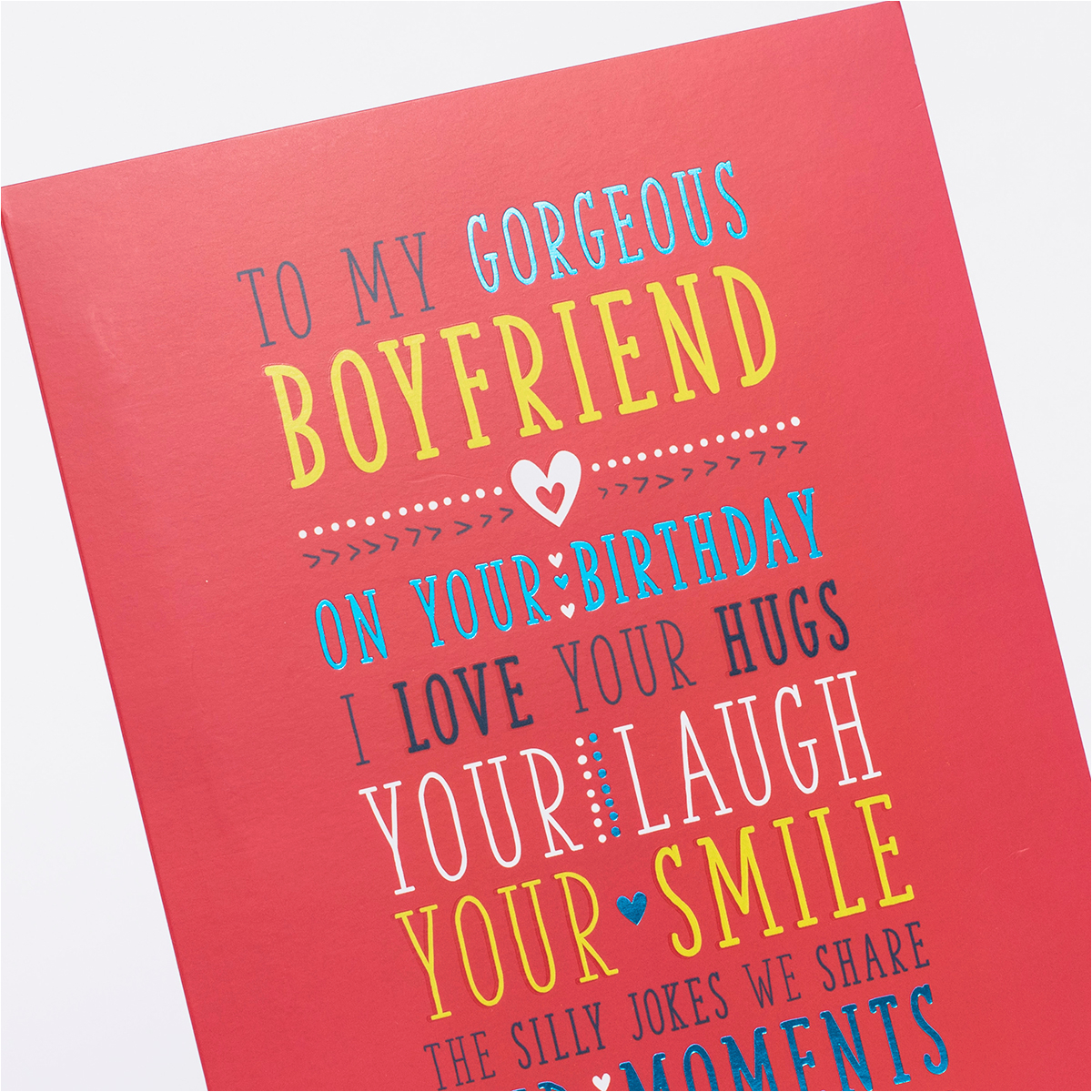 birthday card for my boyfriend