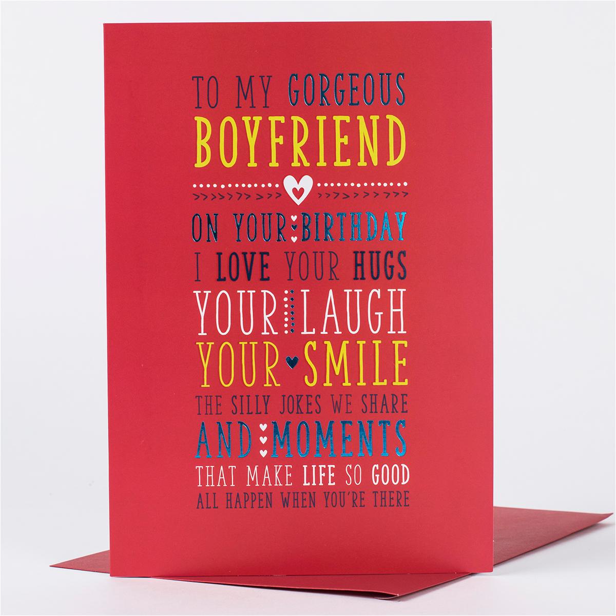 Birthday Cards for A Boyfriend Birthday Card for My Boyfriend Only 89p