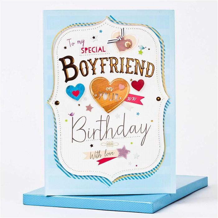 boxed birthday card to my special boyfriend