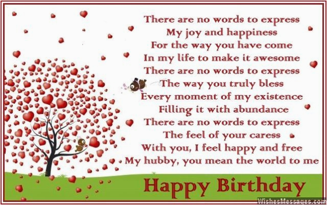 Birthday Poems For Husband Wishesmessages Com These Many Pictures Of Cards