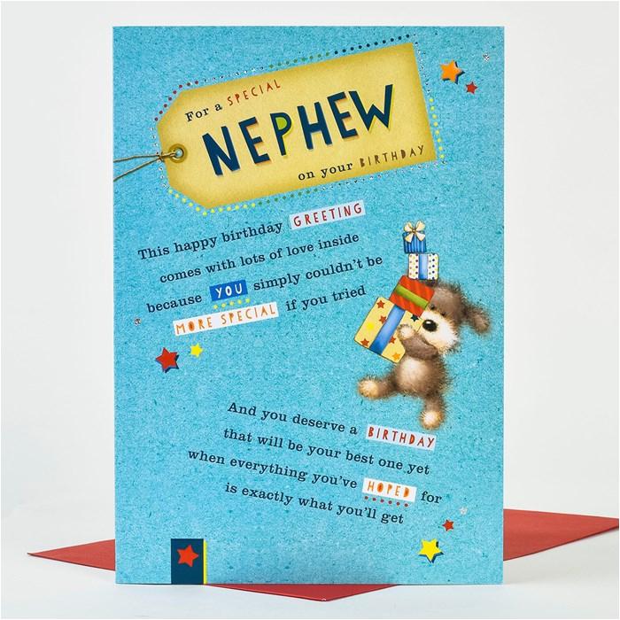 birthday card greetings nephew
