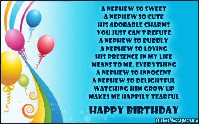 Birthday Cards for A Nephew Birthday Poems for Nephew Wishesmessages Com